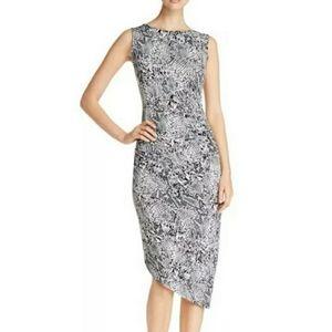 Calvin Klein NWT Black & White Snakeskin Dress XS